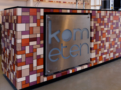 Houten Bar Restaurant Kom Eten