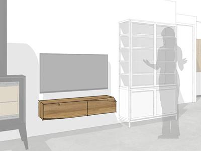 TV-meubel iepenhout Groningen